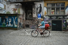 In bici tra i graffiti